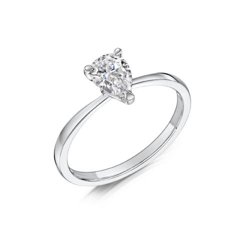 0.5 Carat GIA GVS Diamond solitaire 18ct White Gold. Pear shaped. Engagement Ring, MWSS-1200/050